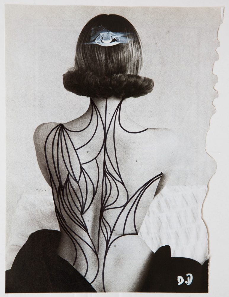 Line Obsession, Delphine Diallo, collage noir et blanc