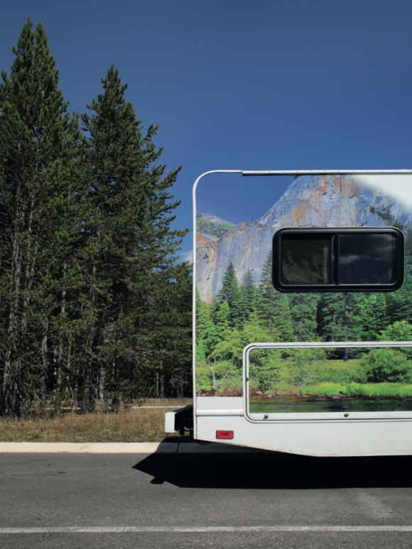 Camping car, Yellowstone National Park, Montana, Joséphine Brueder, photographie couleur